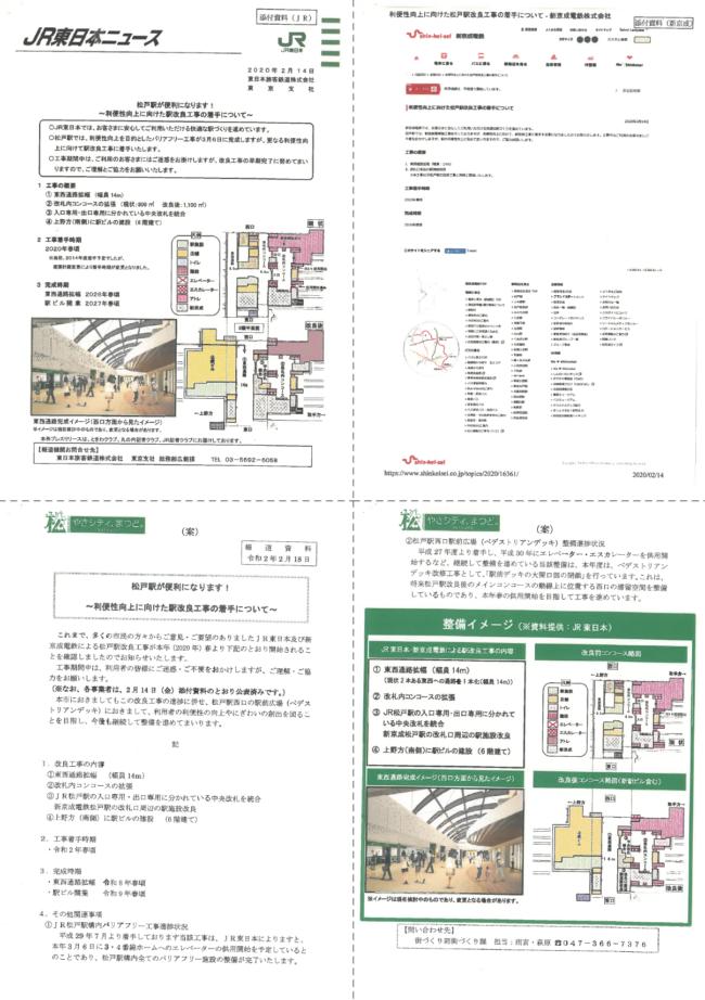 【松戸駅】改良工事についての資料